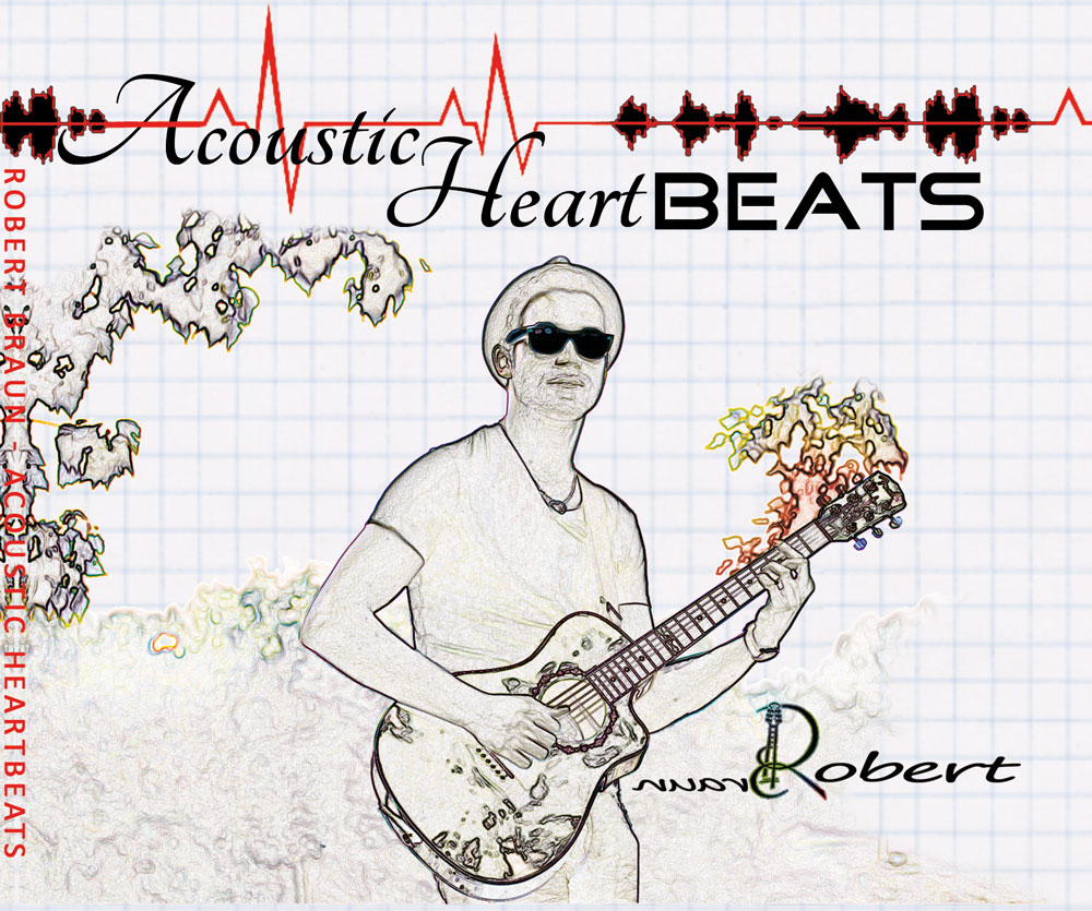 Cover des Album Acoustic Heartbeats des Singer & Songwriters The Jam Man / Robert Braun