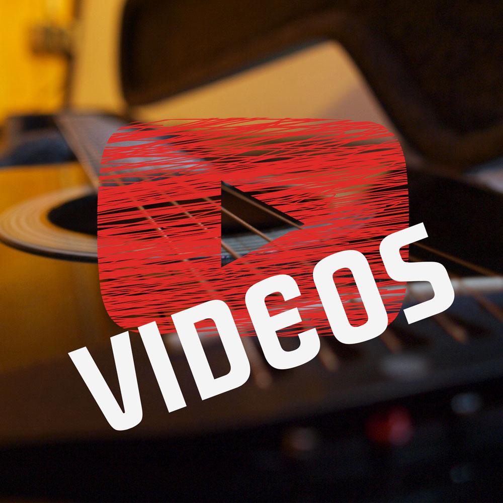 """Vidoes Button auf der Startseite des Singer und Songwriters """"The Jam Man"""" alias Robert Braun"""